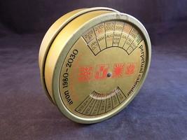 Vintage Avon Perpetual Calendar Round metal Tin No Soap EMPTY Used 1980-... - $12.86