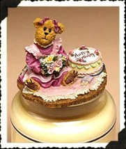 """Boyds Candle Topper """"Patty... Happy Birthday""""- #651226 - Resin~ New- Retired - $29.99"""
