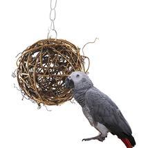 Cockatiel Parakeet Chewing  Swing Loofah Bird Vine Ball Toy - £15.16 GBP
