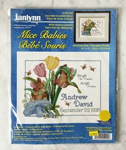 Vintage Janlynn Mice Babies Birth Announcement Counted Cross Stitch Kit ... - $9.45