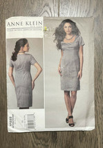 Anne Klein Vogue Patterns V1222 Misses Dress Easy 14-16-18-20 Uncut 2011 - $8.09