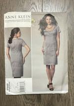Anne Klein Vogue Patterns V1222 Misses Dress Easy 14-16-18-20 Uncut 2011 - $8.09
