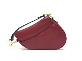 NEW AUTH Christian Dior RED Saddle Shoulder Bag WITH STRAPLESS  image 3