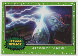 2017 Star Wars Journey to the Last Jedi 11 A Lesson for the Master Green... - $0.98