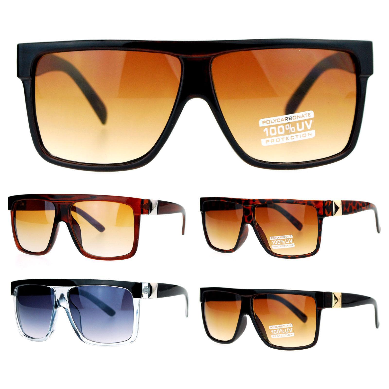 bed53868c75 S l1600. S l1600. Previous. SA106 Flat Top Plastic Mob Pyramid Stud Trim  Gangster Gradient Lens Sunglasses