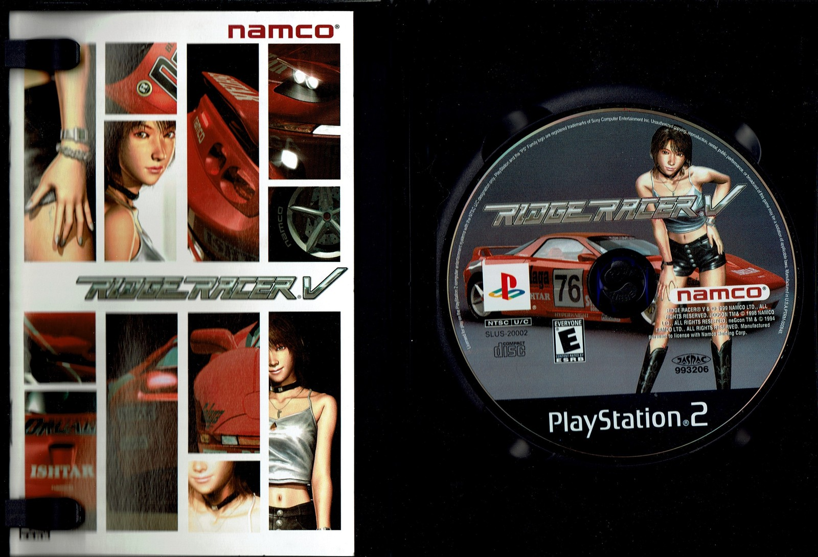 Ridge Racer V (5), PlayStation 2, Bandai Namco, SLUS-20002, Complete with Manual