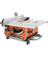 RIDGID Compact Table Saw 15 Amp 10 in. Dual-locking Rip Fence Portable Wheels - $295.50