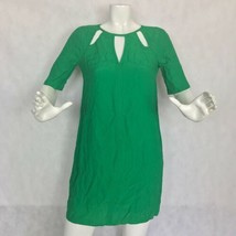 BCBG MaxAzria Dress Shift green cutouts keyhole  Casual Career Women Sz XXS - $34.99