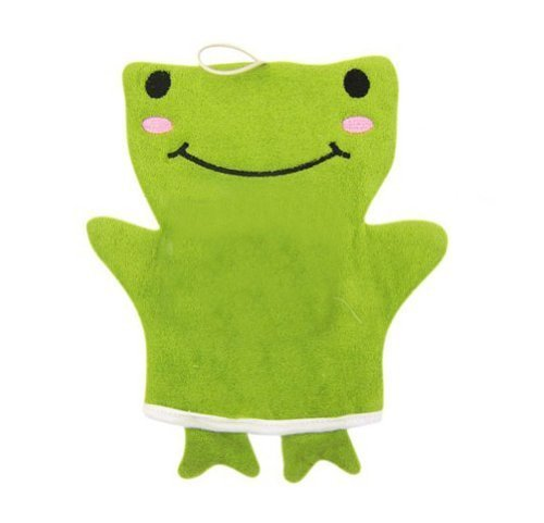 Popular Animal Puppet Bath Mitts Cleansing Scrubber- Happy Frog