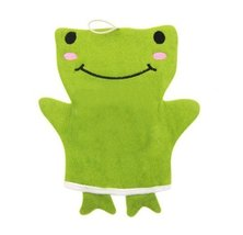 Popular Animal Puppet Bath Mitts Cleansing Scrubber- Happy Frog image 1