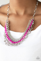 Color Bomb - Pink Necklace - $5.00