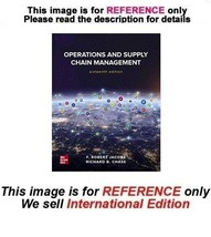 Operations and Supply Chain Management, Paperback 16th (International Ed... - $69.90