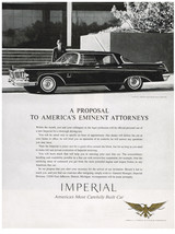 Vintage 1963 Magazine Ad Chrysler A Proposal to Americas Eminent Attorneys - $5.93