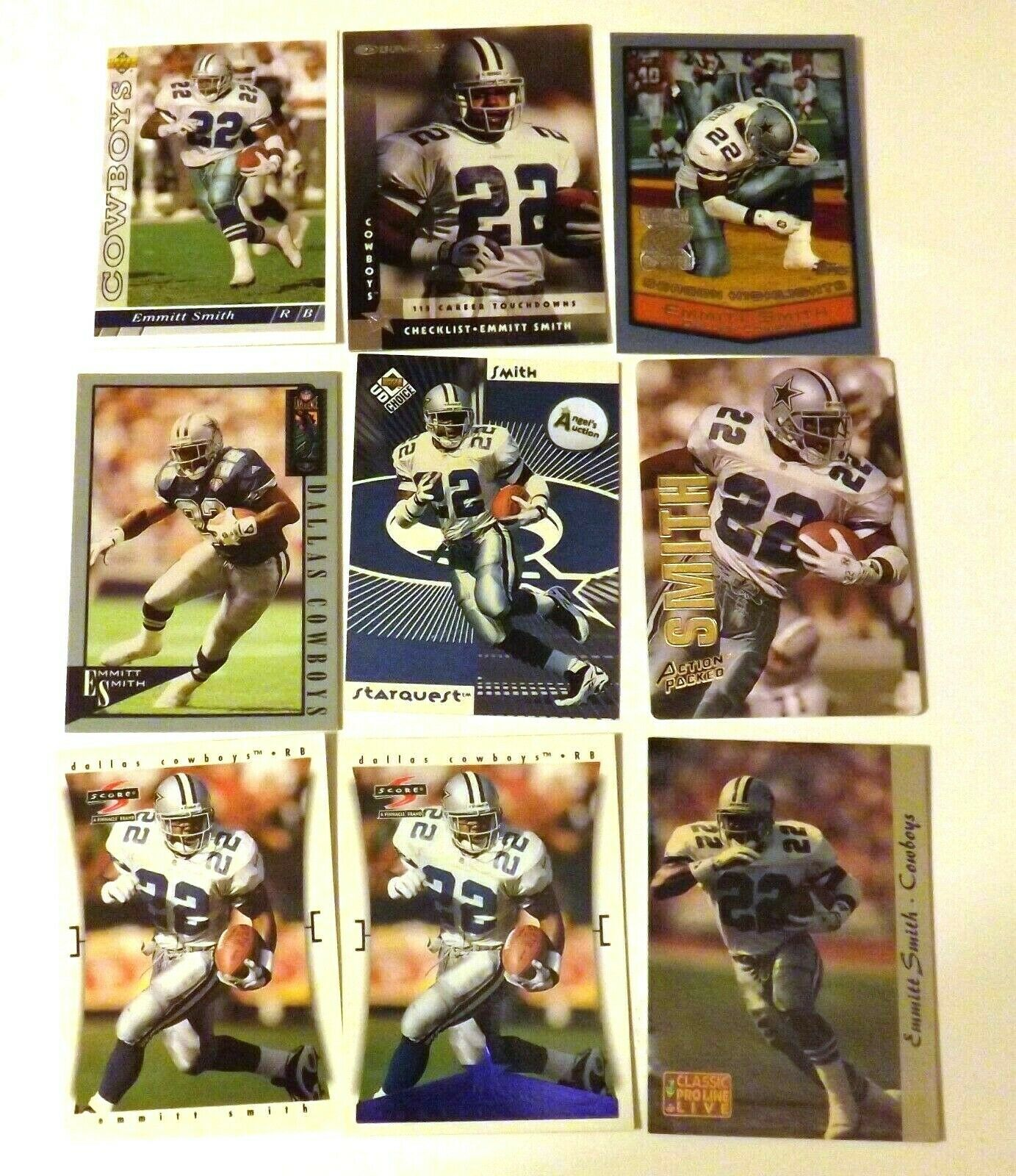 Emmitt Smith #22 Dallas Cowboys Football Trading Cards AA-191704 Vintage Collect