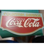 "Wood FOUNTAIN SERVICE ""Drink"" COCA COLA Sign ...    FREE POSTAGE USA - $37.21"