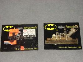 DC Comics: Batman Gotham City Skyline + The Joker Pins Rosecraft [VINTAG... - $12.00