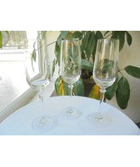 "Set of 3 High Quality Champagne Flutes 9"" Tall - $23.76"