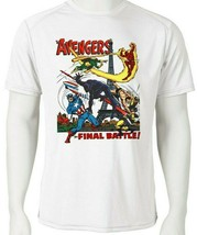 Avengers Dri Fit graphic Tshirt moisture wicking SPF retro comic book white tee image 1