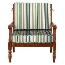 """26"""" x 26"""" Outdoor Deep Seat Cushion Set For Chair Vintage Green Beige St... - $110.05"""