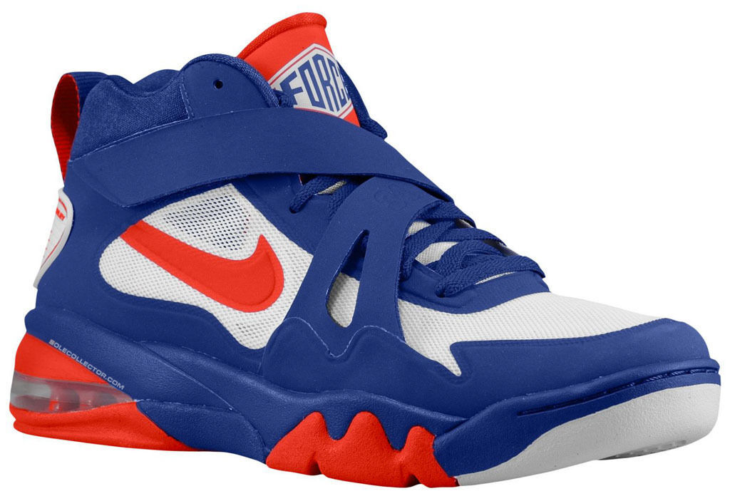 Primary image for Nike Air Force Max CB 2 Hyperfuse Mens 616761-400 Barkley Blue Red Shoes