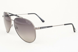 Tom Ford Rick Gunmetal / Gray Polarized Sunglasses TF378 10D - $185.22