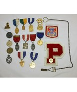 Lot of 15 Illinois High School Award Pins Plus Patches from Illinois Hig... - $49.49