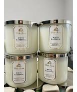4 New Bath Body Works White Gardenia 3 WickScented Wax Candle 14.5 Large - $79.10