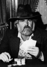 Kenny Rogers as The Gambler holding his cards close 5x7 inch publicity p... - $5.75