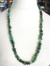 Silver Necklace 925 with Agate Green Banded, 50 or 75 cm Length - $75.05+