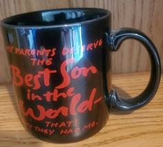 AMERICAN GREETINGS COFFEE CUP MUG (BEST SON IN THE WORLD) DESIGNERS COLL... - $19.99