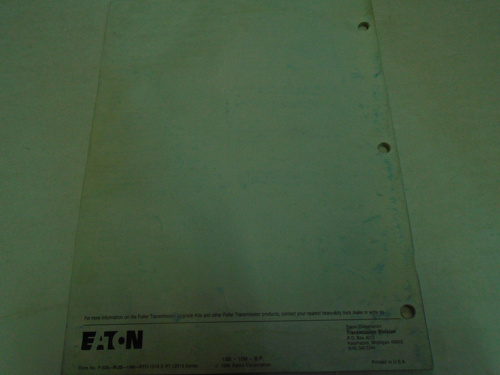 Eaton Fuller RT-1213 RT-12513 Series and 50 similar items