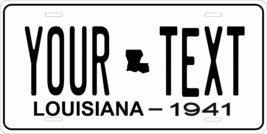 Louisiana 1941 License Plate Personalized Custom Car Bike Motorcycle Moped Tag - $10.99+