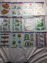 Vtg 1980s 1990s Decoral Handpainted Decal Lot 12 New Old Stock - $23.36