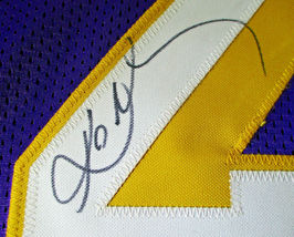 KOBE BRYANT / NBA HALL OF FAME / AUTOGRAPHED LAKERS PURPLE CUSTOM JERSEY / COA image 5