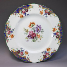 Royal Doulton English Luncheon Plate Porcelain Dinnerware Multi Colored ... - $17.82