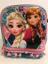 Frozen Girls Elsa & Anna Dual Compartment Insulated Lunch Bag - $9.89
