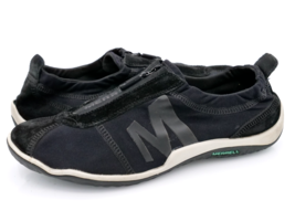 Merrell Womens 7.5 Black J57456 Zip Up Performance Footwear Sneaker Shoes EUR 38 - $29.99