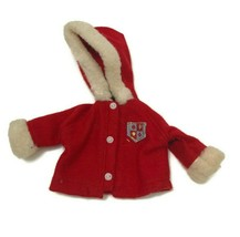 Vintage 1960s Snow Bunny Ski Skiing Red Jacket Coat Ideal Tammy Doll As Is - $9.46