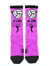 Custom Pink Volleyball is Life Socks ALL Sizes FAST SHIPPING - $12.99