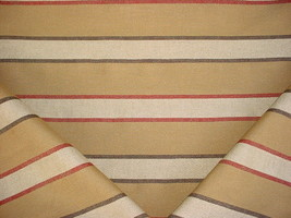 3-1/2y THIBAUT NATURAL BROWN SOUTHWEST STRIPE DRAPERY UPHOLSTERY FABRIC - $60.98