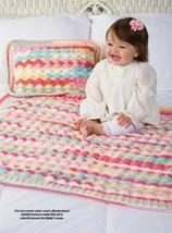 Z600 Crochet PATTERN ONLY Bubbles Baby Blanket & Pillow Pattern - $6.50
