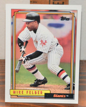 New Mint Topps trading card Baseball card 1992 Mike Felder 697 Giants - $1.48