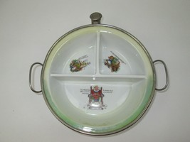 Antique 1920 Child Baby Warming Divided Dish GW Co Germany Nursery Rhyme... - $60.43
