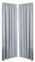 GEOMETRIC FAUX WOOL SILVER GREY LINED PENCIL PLEAT CURTAINS 9 SIZES - $24.67+