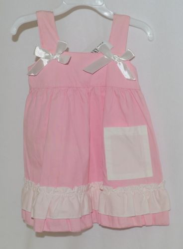 SK Spunky Kids Pink White Ruffle Sun Dress Size 80cm or 1 to 2 Year Old