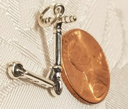 925 Sterling Silver Push Scooter 3-D Charm image 2