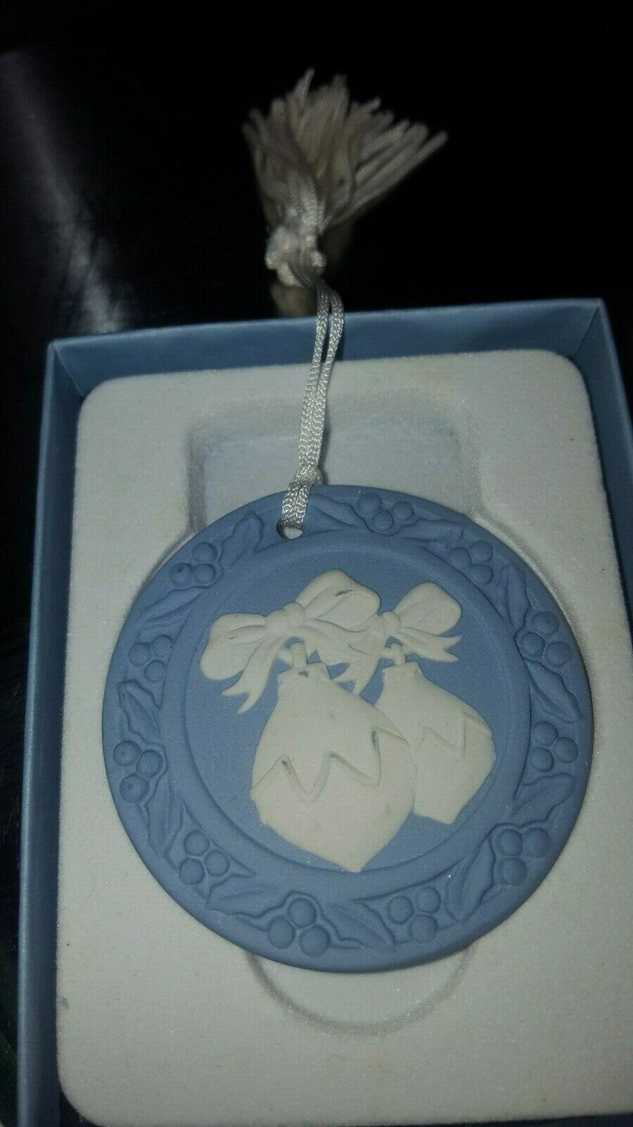 Lot of 2-Genuine Wedgwood Annual Jasperware Ornaments-U.K.-Xmas & Nutcracker image 3