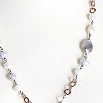 Collier Argent 925,Perles Style Baroque,Chaîne Rolo Rose Fait ,Pendentif Ovale image 2