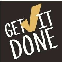 "Get it Done Wall Art Wood Composite 6.5"" X 6.5"" - $7.91"