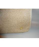 The SAK White and Gold Knit & Microfiber Shoulder Bag Handbag MINT - $27.72